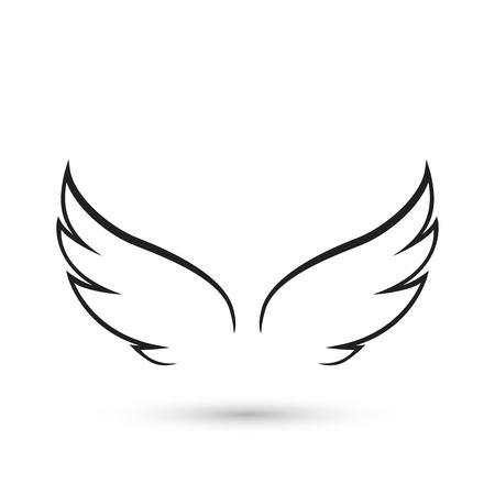 Ilustración de Angel Wings icon - Imagen libre de derechos