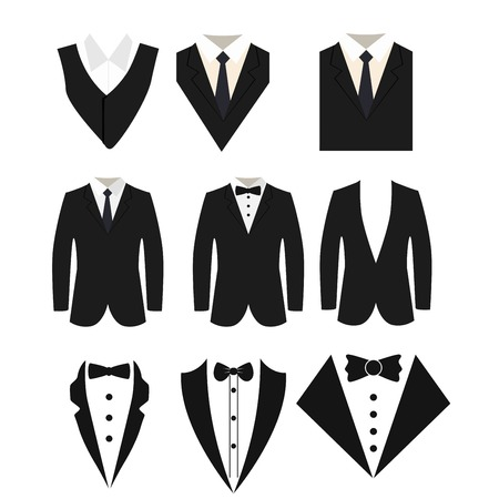 Illustration for Suit icon isolated on a white background. - Royalty Free Image