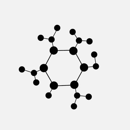 Illustration pour molecule icon isolated on white background - image libre de droit