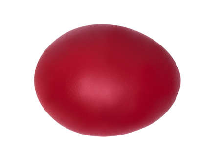 Photo for Red easter egg on white - Royalty Free Image