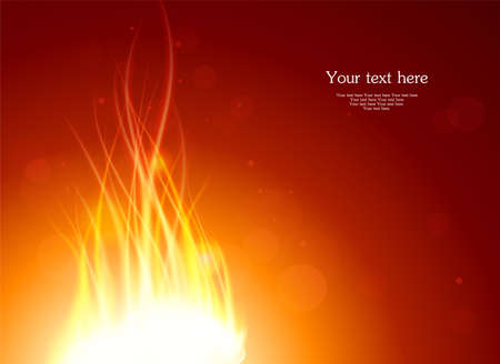 Vector illustration of Glowing fire background