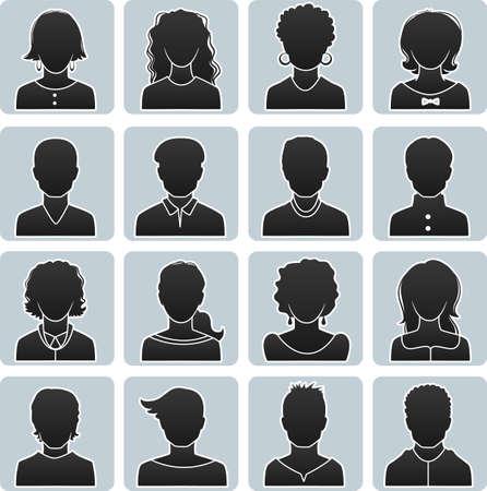 illustration of Man and woman avatars