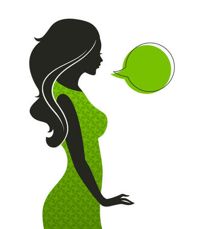 Vector illustration of Woman's silhouette