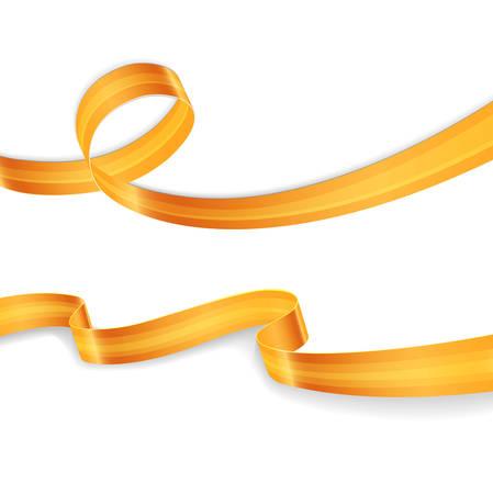 Illustration pour Vector illustration of Golden ribbons set image - image libre de droit