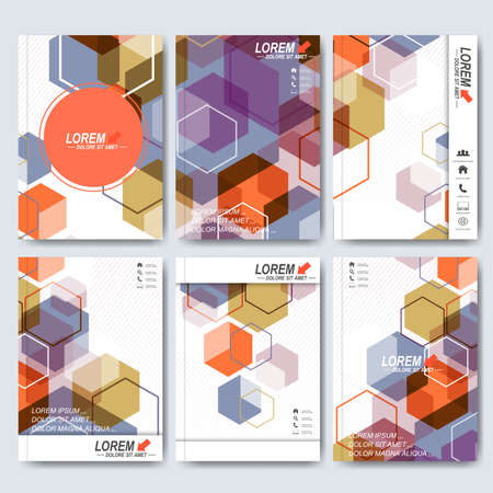 Modern vector templates for brochure, flyer, cover magazine or report in A4 size. Business, science, medicine and technology design . Vector illustration.
