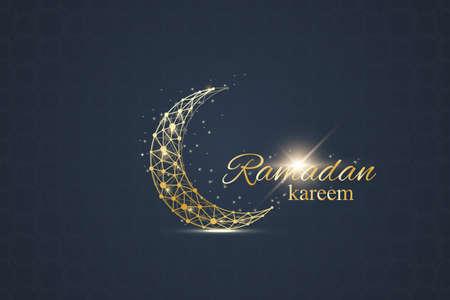 Illustration pour Ramadan greetings background. Luxury gold solutions design. Vector illustration - image libre de droit