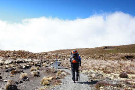 New Zealand - Tongariro crossing Hiker