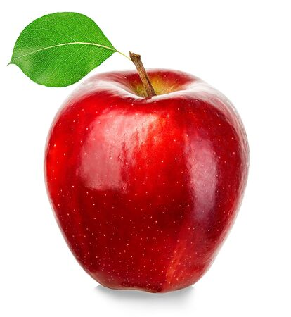 Photo for Ripe red apple isolated on a white background. - Royalty Free Image