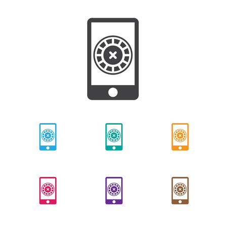 Vector Illustration Of Business Symbol On Cell Play Roulette Icon