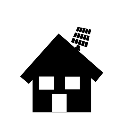 9fb69dc63b25 Eco house icon vector isolated on white background for your web and mobile  app design,