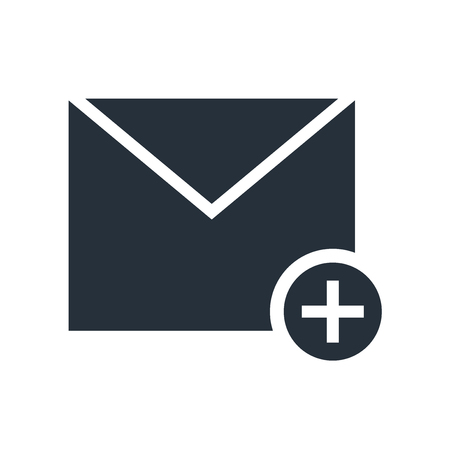 Close envelope icon vector isolated on white background for your web and mobile app design, Close envelope logo concept