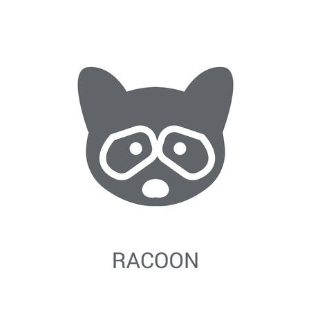Racoon icon. Trendy Racoon logo concept on white background from animals collection. Suitable for use on web apps, mobile apps and print media.