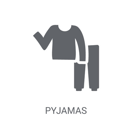 pyjamas icon. Trendy pyjamas logo concept on white background from Clothes collection. Suitable for use on web apps, mobile apps and print media.