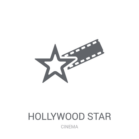 Illustration pour Hollywood Star icon. Trendy Hollywood Star logo concept on white background from Cinema collection. Suitable for use on web apps, mobile apps and print media. - image libre de droit