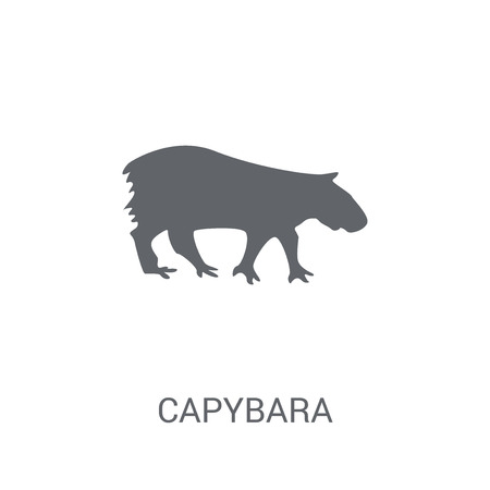 Illustration pour Capybara icon. Trendy Capybara logo concept on white background from animals collection. Suitable for use on web apps, mobile apps and print media. - image libre de droit