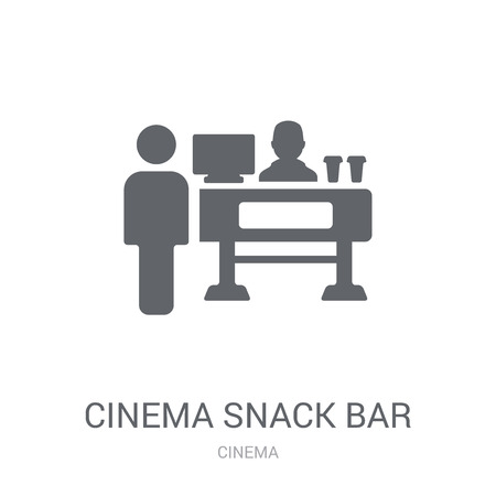 Cinema Snack Bar icon. Trendy Cinema Snack Bar logo concept on white background from Cinema collection. Suitable for use on web apps, mobile apps and print media.