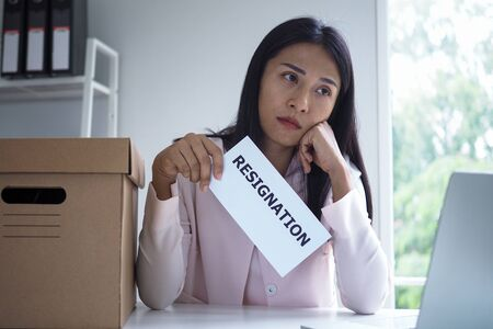 Employees who intend to quit work are hesitant to send a resignation letter to management.