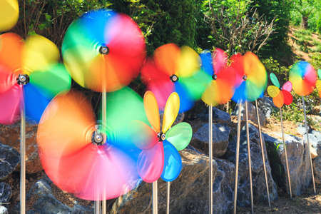 the colorful weather vane