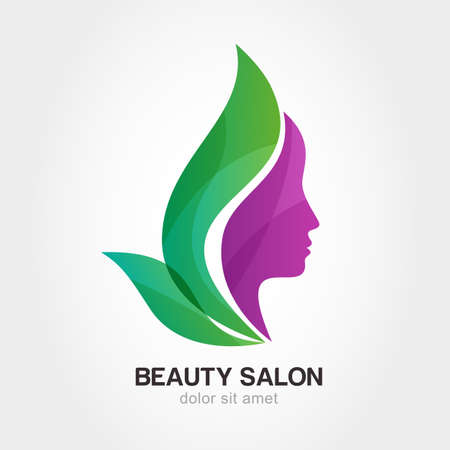 Photo pour Woman\'s face in flower leaves. Abstract design concept for beauty salon, massage, cosmetic and spa.  - image libre de droit