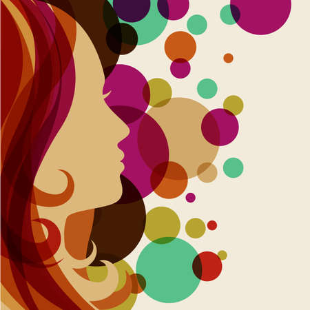 Vector Of Beautiful Girl Silhouette With Id 36227492 Royalty Free Image Stocklib