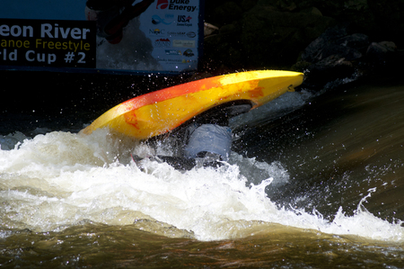 White water kayak competiton on the Pigeon River.