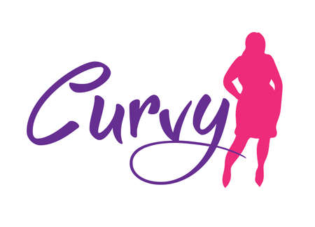 Logo plus size woman. Curvy woman symbol, logo. Vector illustration