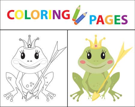 Free Printable Frog Coloring pages - Kids-AusmalbilderTV | 357x450