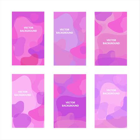Illustration pour Abstract modern hipster poster set, round fluid shapes. Scandinavian minimalism style. Vector illustration. - image libre de droit