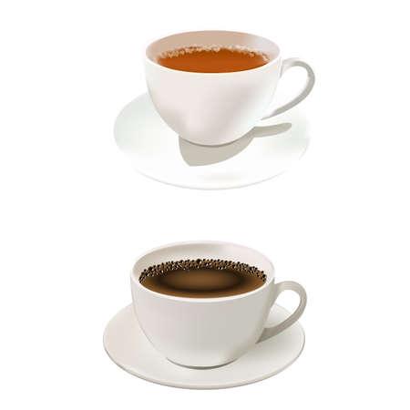 Illustration pour A hot coffee and tea cup - image libre de droit