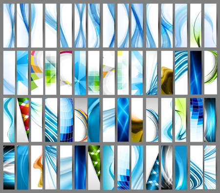 Illustration for abstract Various colorful vertical header set collection vector design  - Royalty Free Image
