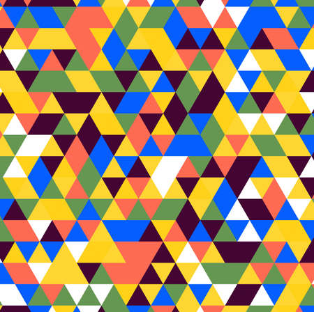 Illustration for Abstract colorful polygon background vector - Royalty Free Image