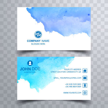 Illustration for Beautiful watercolor business card set template - Royalty Free Image