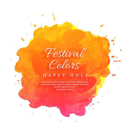 Ilustración de Happy Holi Indian spring festival of colors background - Imagen libre de derechos
