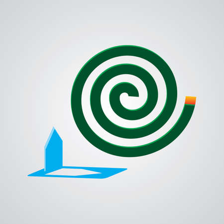 A green mosquito coil.