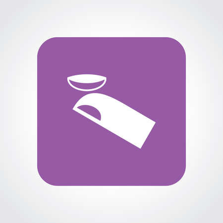 Flat Icon of contact lens