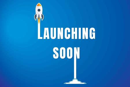 Illustration pour Creative Launching Soon Poster Design. - image libre de droit