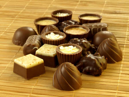 Various delicious chocolate bonbons