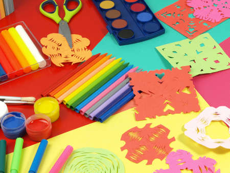 Color madness in children desk for work