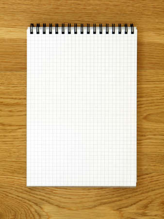 Empty notebook for schedule or to-do list