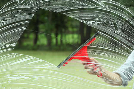 Perfect glass cleaning,housework with special squeegee