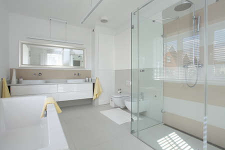 New finished bathroom in a modern house