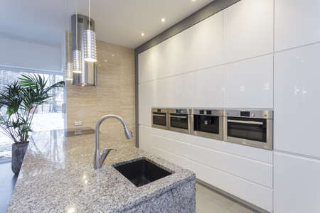Designers interior - interior of modern minimalist kitchen