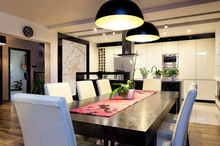 Urban apartment - Modern kitchen and dining room
