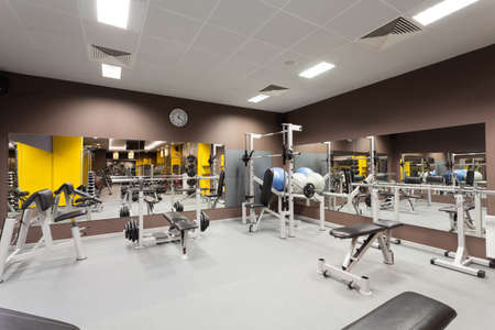 Modern gym with a special epuipment, horizontal