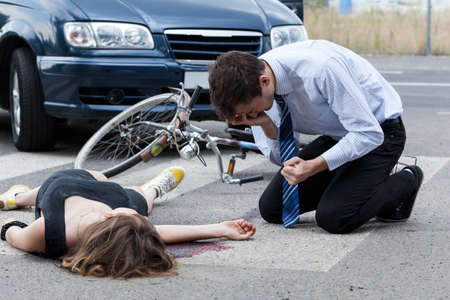 Horizontal view of a fatal road accident