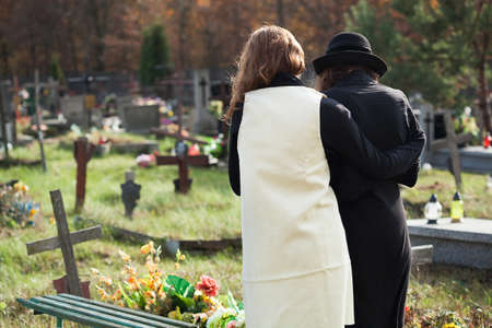 Widow in depression after husband death is supported by friend