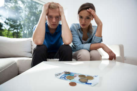 Frustrated couple not having money to live