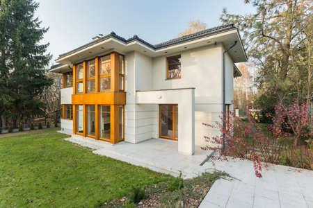 Big luxury house with nice green garden
