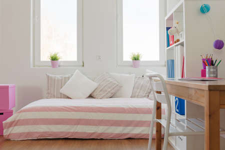 Photo for Interior of beauty pastel room for schoolchild - Royalty Free Image