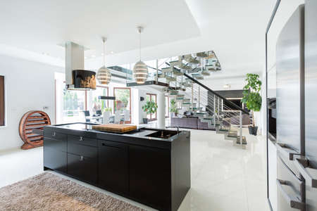 Luxurious interior of a large estate